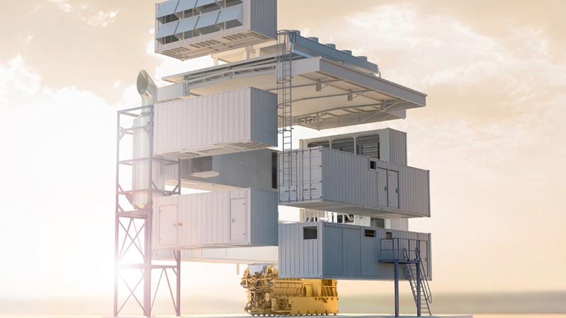 Einfach aufzubauen in nur zwölf Tagen: das neue Modular Power Plant (Quelle: Caterpillar Energy Solutions GmbH)