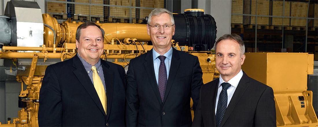Das neue Führungsteam von Caterpillar Energy Solutions GmbH