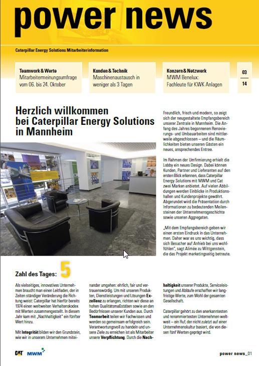power news - Mitarbeiterzeitung der Caterpillar Energy Solutions
