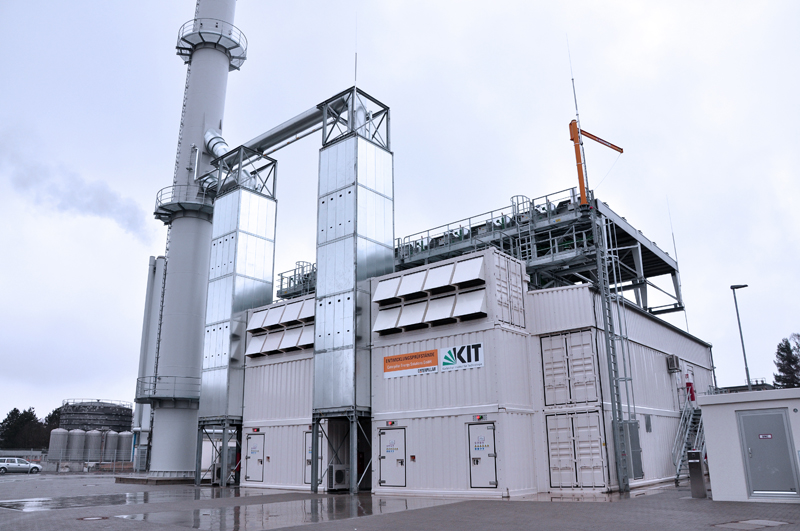 Das Blockheizkraftwerk am Karlsruher Institut für Technologie