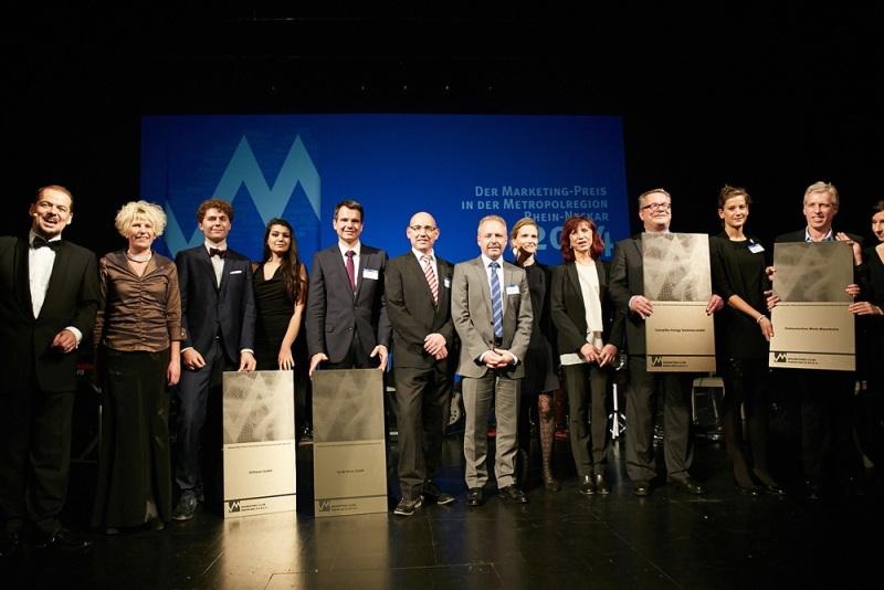 Die Preisträger bei der Award-Übergabe des Marketing-Preis 2014.