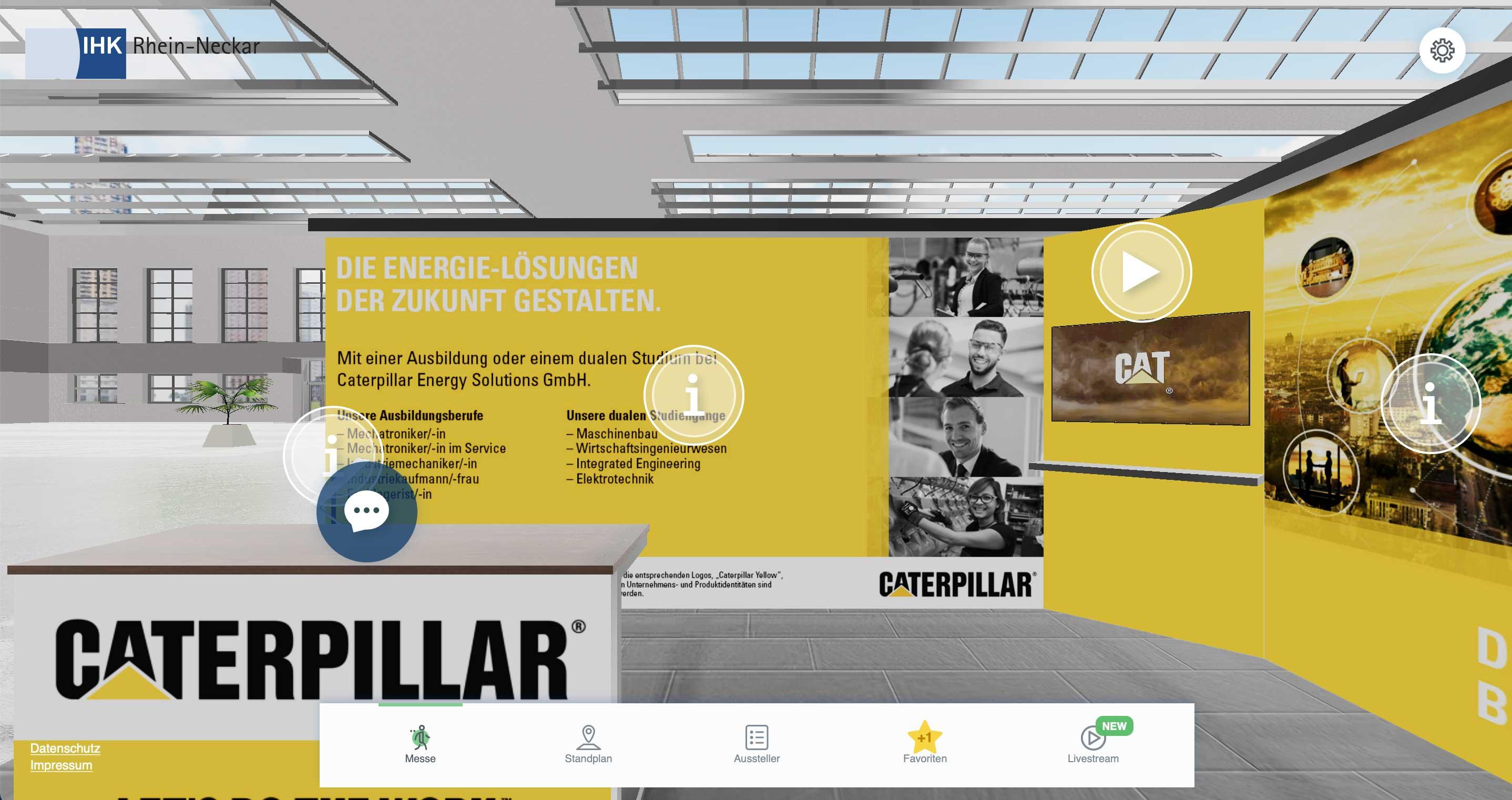 Caterpillar Energy Solutions auf der virtuellen Ausbildungsmesse der IHK Rhein Neckar