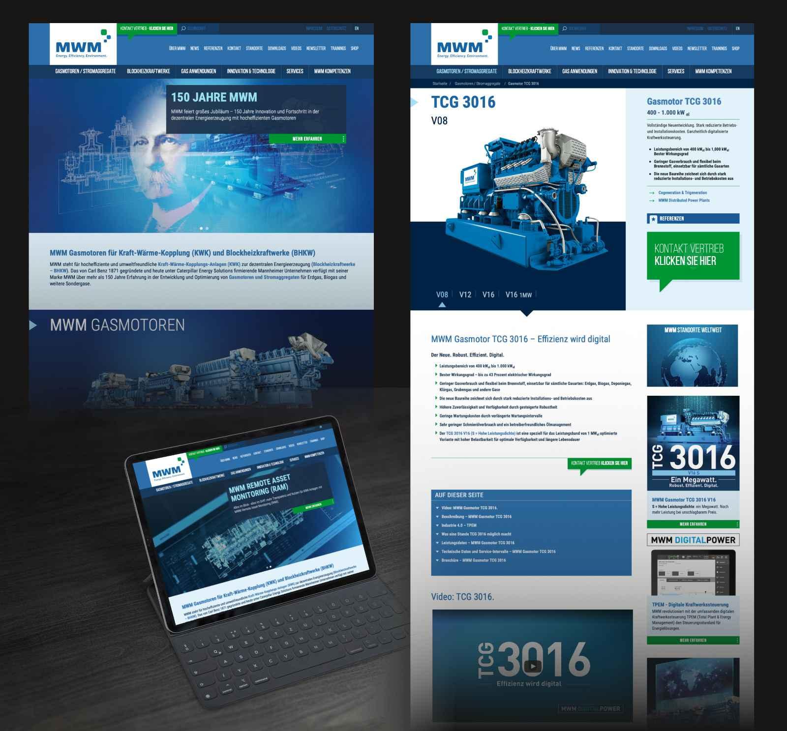 Neues Design MWM Website
